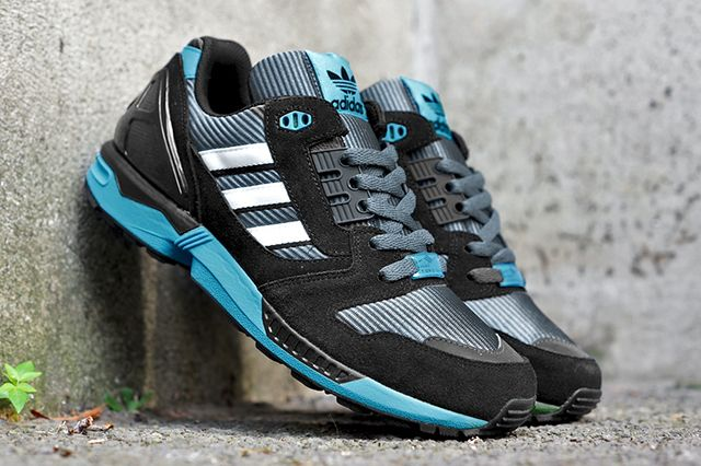 adidas Originals Zx 8000 (Black/Bright Cyan) - Sneaker Freaker