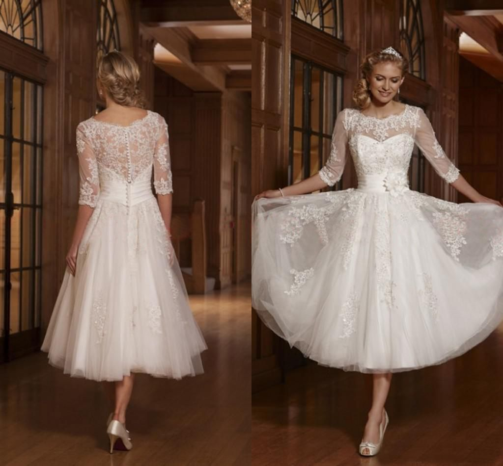 Wedding dress with short front and long back  Inexpensive Tea Length Wedding Dresses  Wedding Dresses for Fall