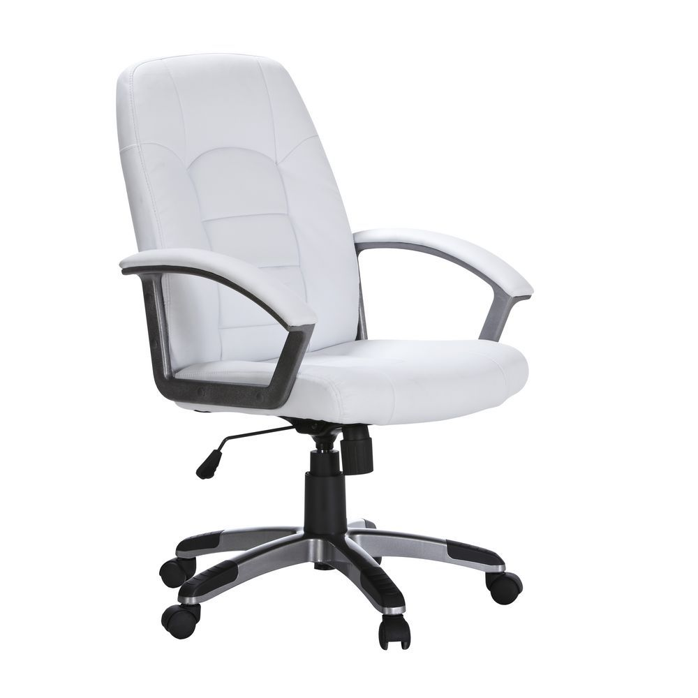 Euro executive high back chair in white from officeworks