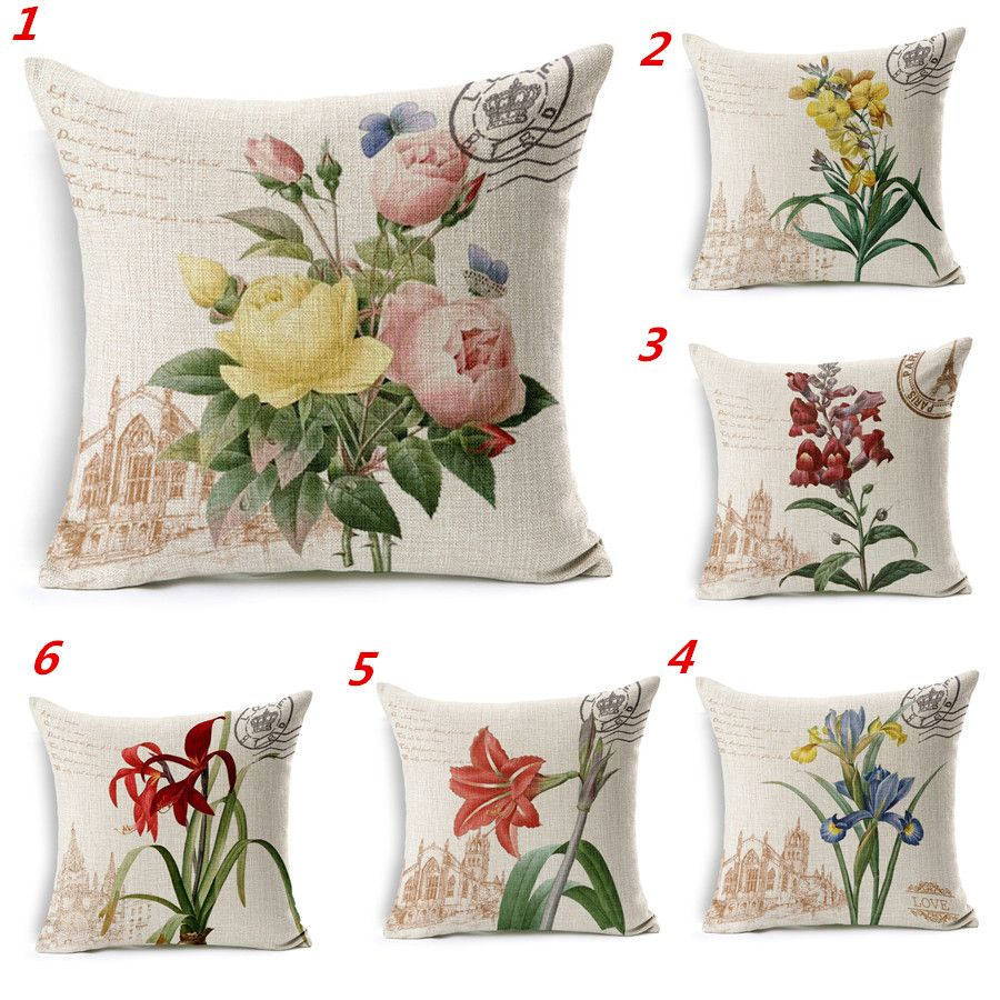 Maiyubo wholesale colors natural flower decorative cushion covers