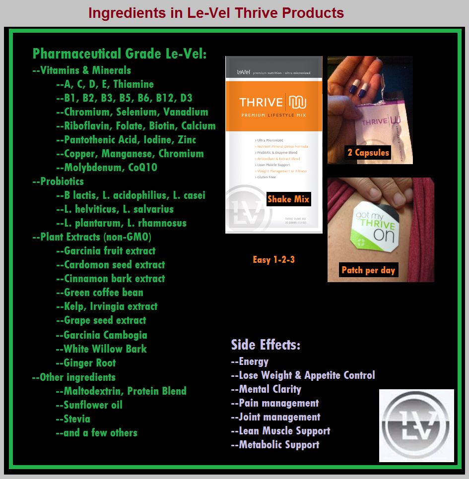 It's a ALL NATURAL VITAMIN, give it a try today, and see for yourself.   https://amylay27.le-vel.com
