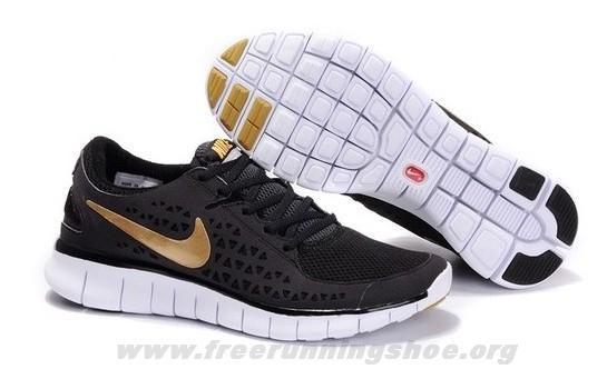 b1f5817ff63d8 Nike Free Run 395912-004 Mens Black Gold