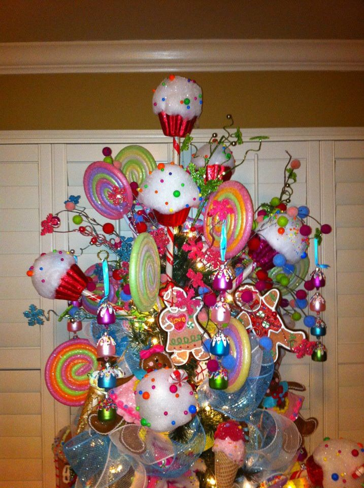 Christmas tree toppers christmas tree candy trees and for Candy xmas tree decoration