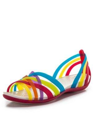 a663c7863d99 Huarache Flat Jelly Sandals