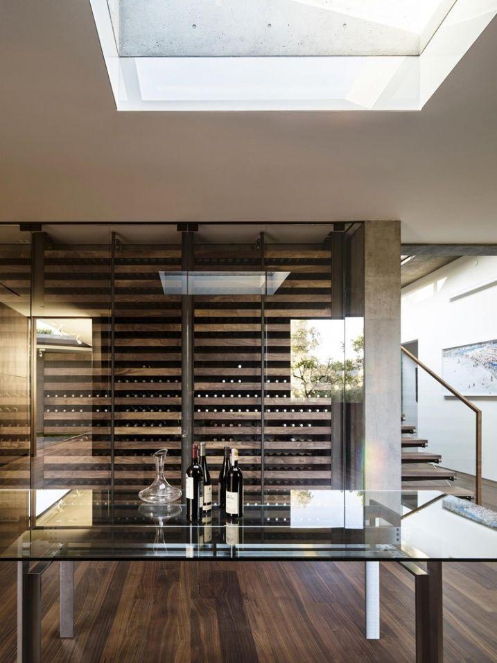 Maison contemporaine en béton avec piscine à débordement | Wine ...
