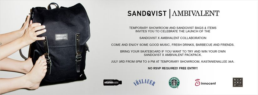 Ambivalent Berlin join us to celebrate the collaboration bag between sandqvist and
