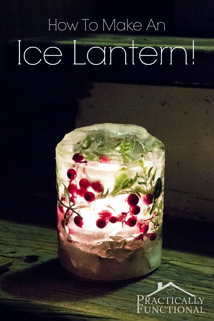 How to make christmas centerpieces with ice - How To Make An Ice Lantern Diyhomesweethome Ice Lanterns Are So Pretty Decorative Leaves And Berries Frozen Inside The Walls Of The Ice Lantern