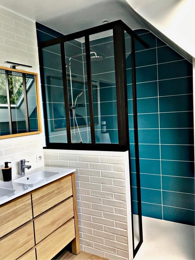 Epingle Par Leni Miladinova Nachevska Sur Bathroom Idee Salle De Bain Cloison Douche Verriere Douche