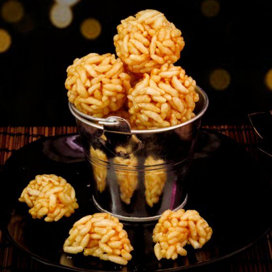 Puffed Rice Balls | Puffed rice, Snacks, Sweet bite