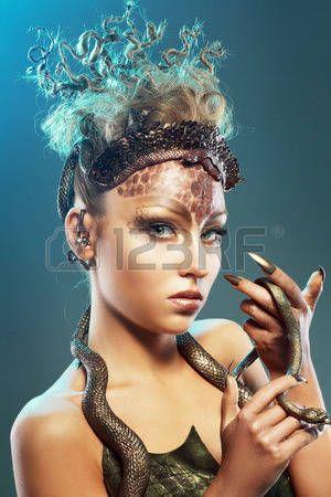 Stock Photo Costume meduse, et Cheveux fantastique