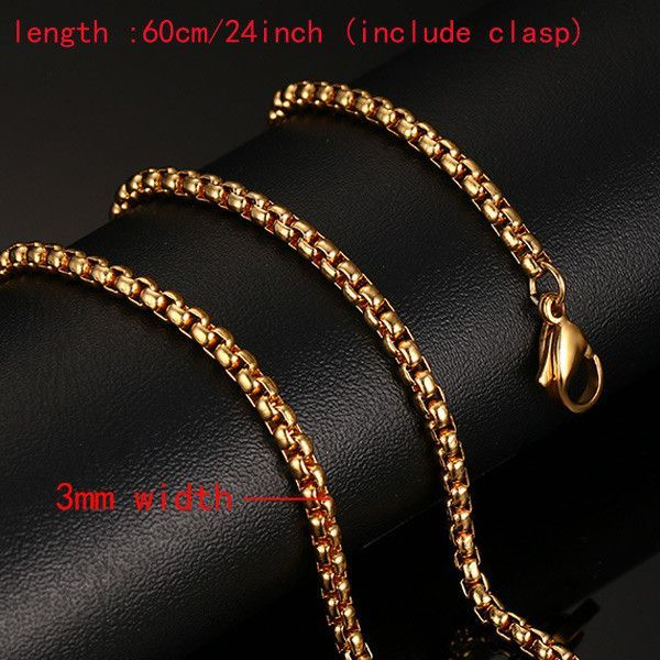 b788a3cfc03ef Meaeguet Stainless Steel Snake Chain 24inch Gold Color Necklace For ...