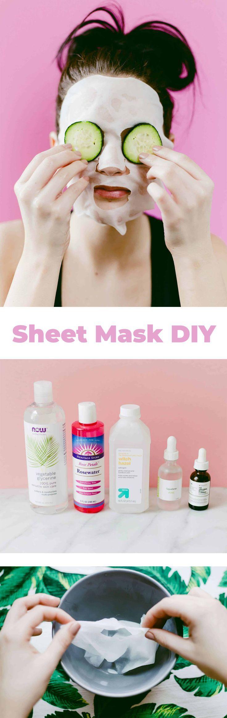 Diy hydrating sheet mask a beautiful mess hydrating