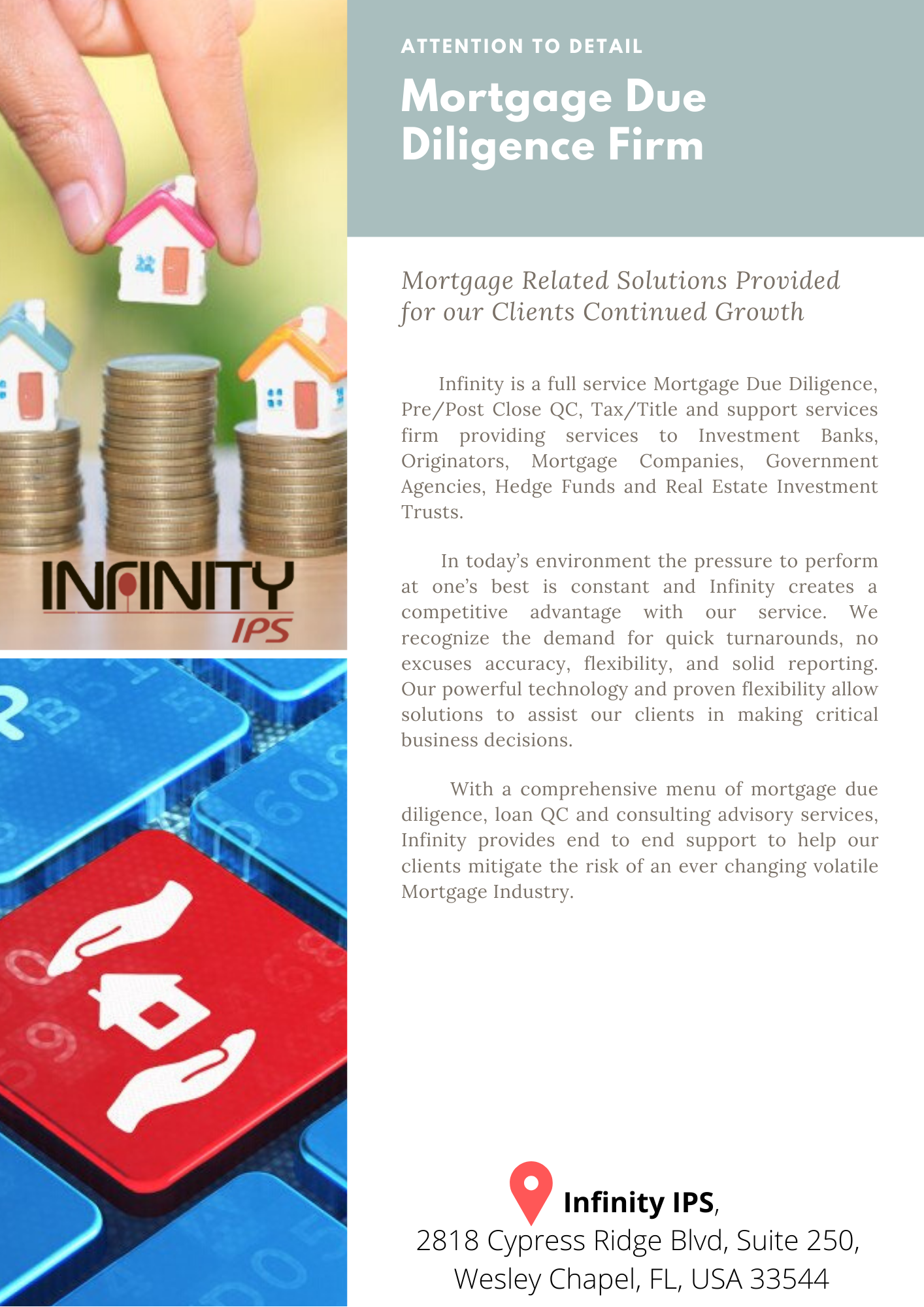 Infinity Also Assists In Setting Up Relevant Agency Required Quality Control Measures Recommend Proce Real Estate Investment Trust Mortgage Mortgage Companies
