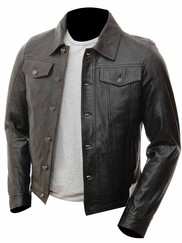 Men Slim Fit Black Cafe Racer Motorcycle Biker Genuine Leather Jacket Coats Jackets Cafe Racer Leather Jacket Leather Jacket Men Leather Jacket [ 1024 x 768 Pixel ]