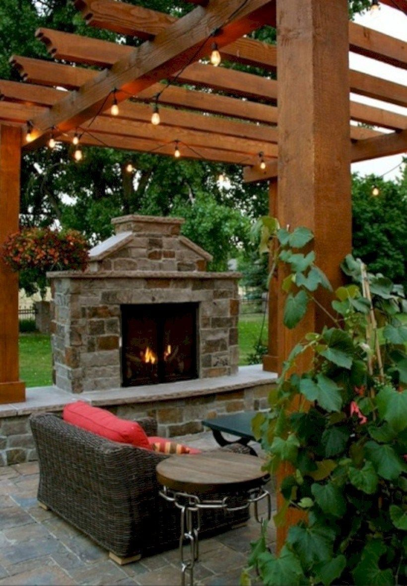 37 DIY Outdoor Fireplace and Fire pit Ideas - GODIYGO.COM, #DIY #Fire #Fireplace #GODIYGOCOM #ideas #outdoor #Pit