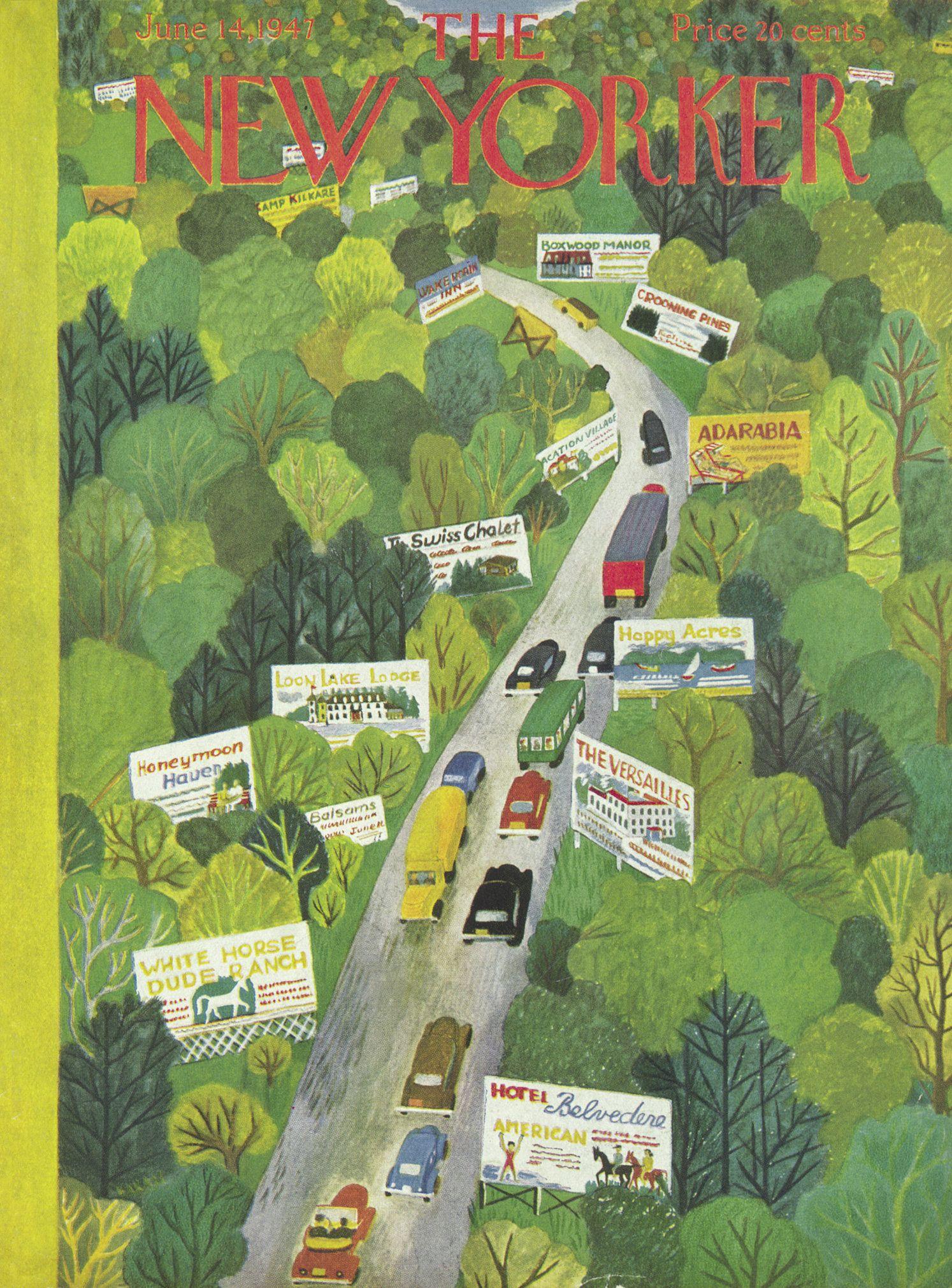 The New Yorker - Saturday, June 14, 1947 - Issue # 1165 - Vol. 23 - N° 17 - Cover by : Ilonka Karasz