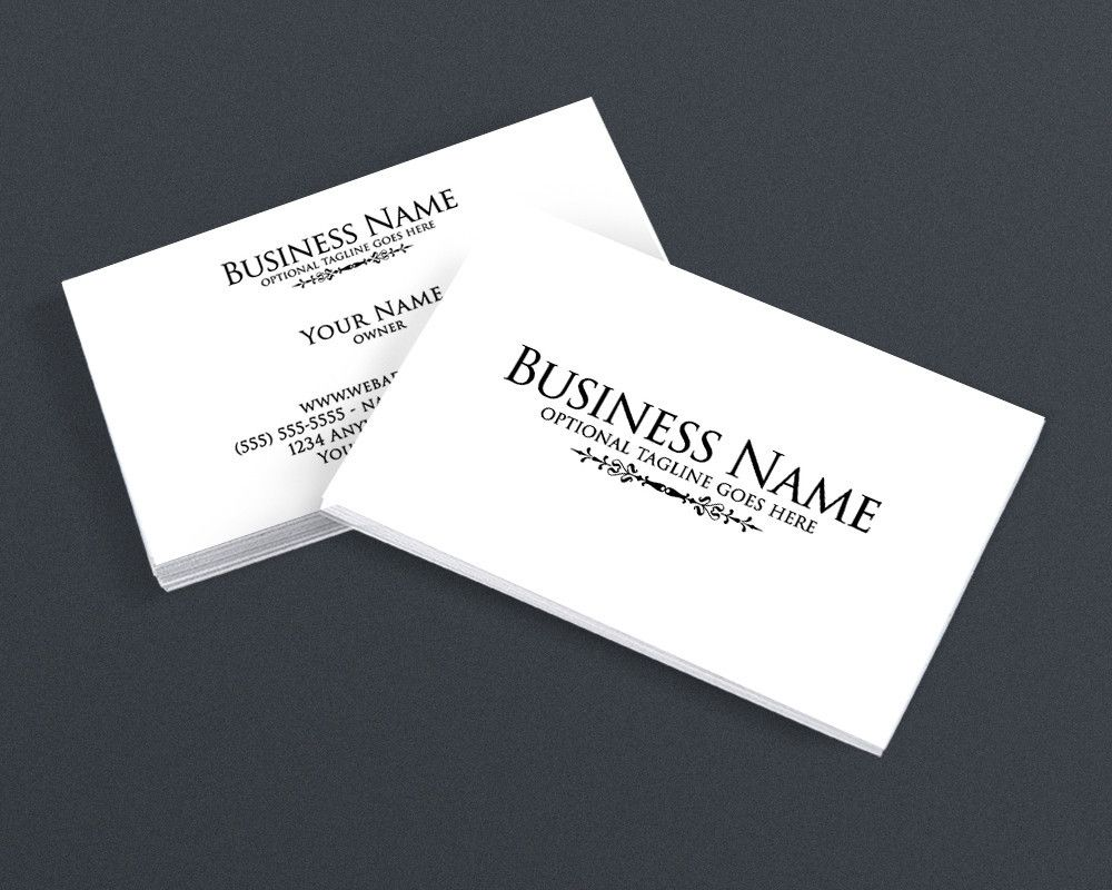 Minimalist 4 2 Sided Business Card Design Business Card Design Business Card Design Simple Simple Business Cards