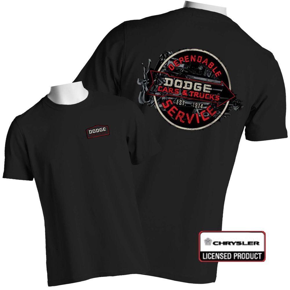 Vintage Dodge Hemi T Shirt Parts Service Sign Chrysler Fire Power Big Tall