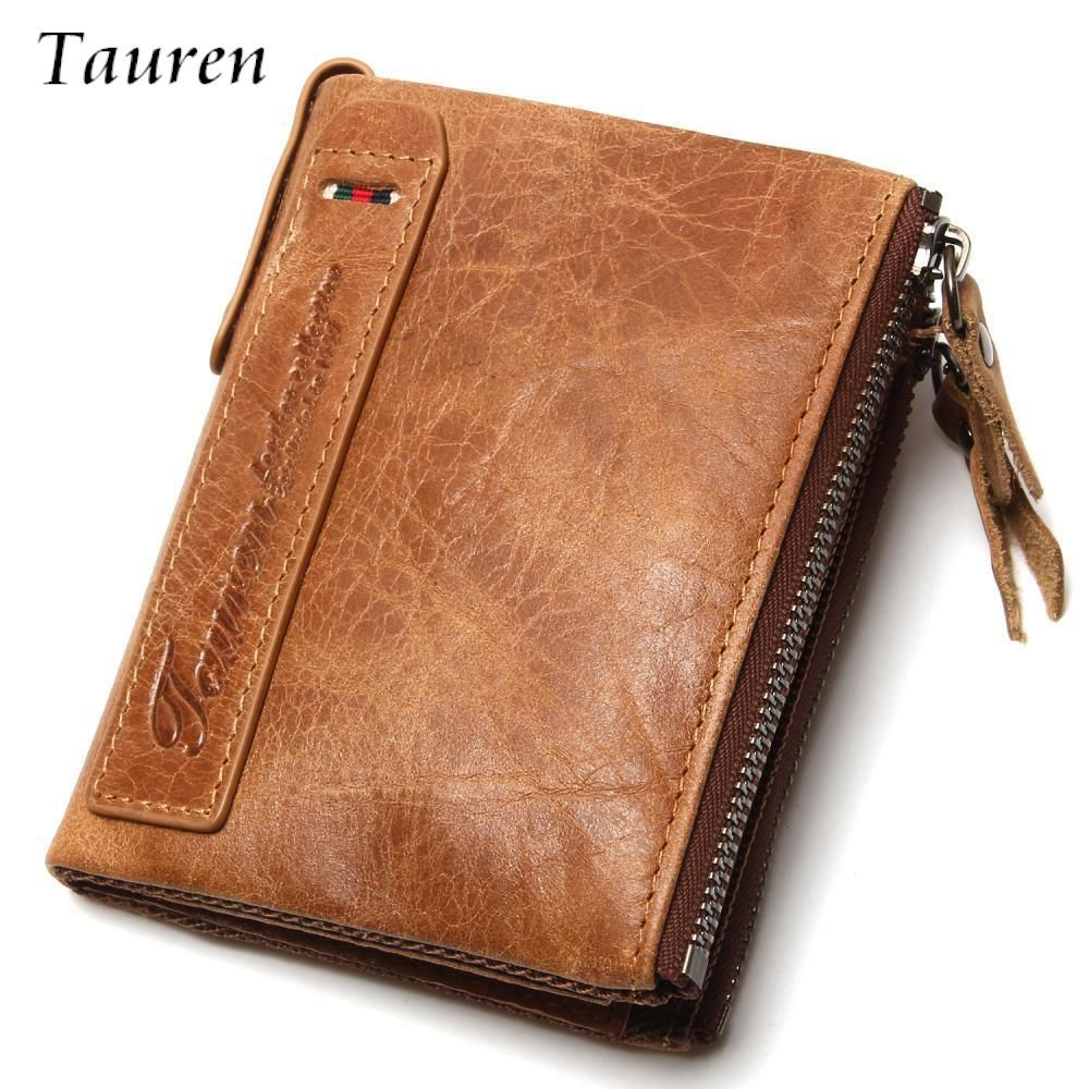 Brand Men Wallets Dollar Price Purse Genuine Leather Wallet Card ...