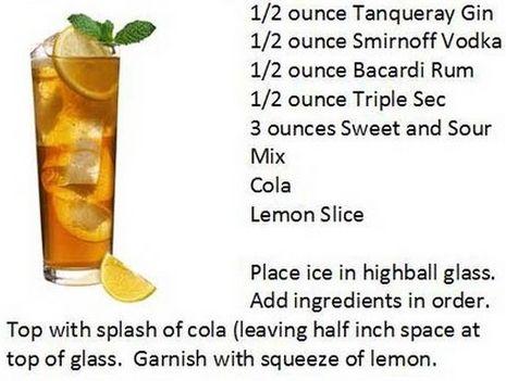 Long Island Ice Tea Applebee S Tgi Friday S Style Long Island Iced Tea Recipe Long Island Iced Tea Tea Recipes