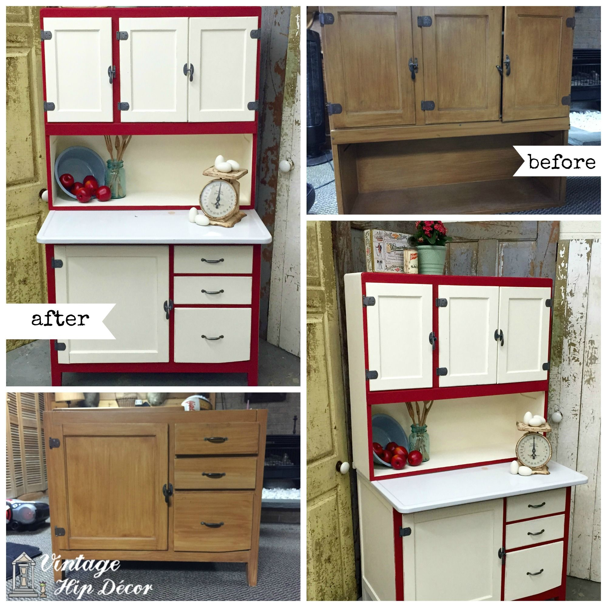 Vintage Kitchen Hutch Recycling Bins A Hoosier Cabinet Makeover Custom Furniture