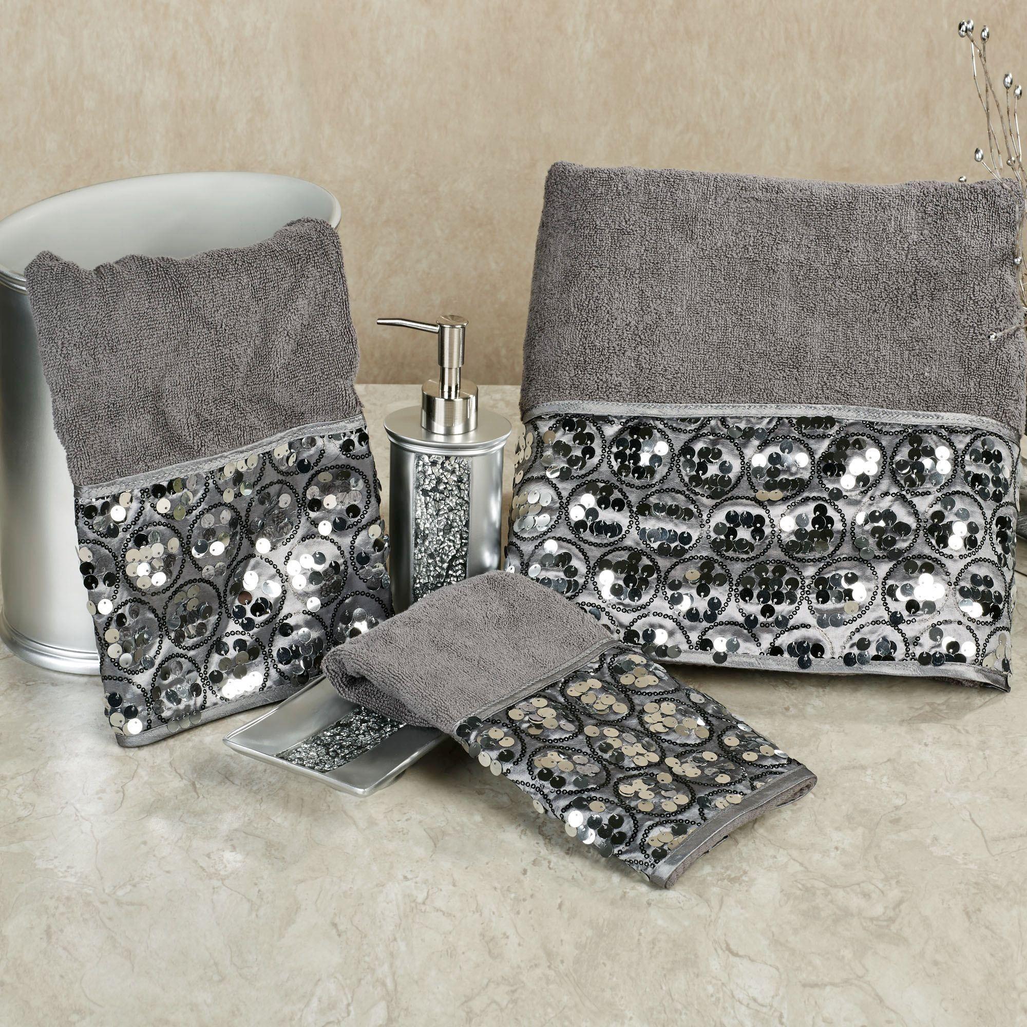 Bathroom Rugs And Shower Curtains Sets Ideas Pinterest - Silver bath towels for small bathroom ideas