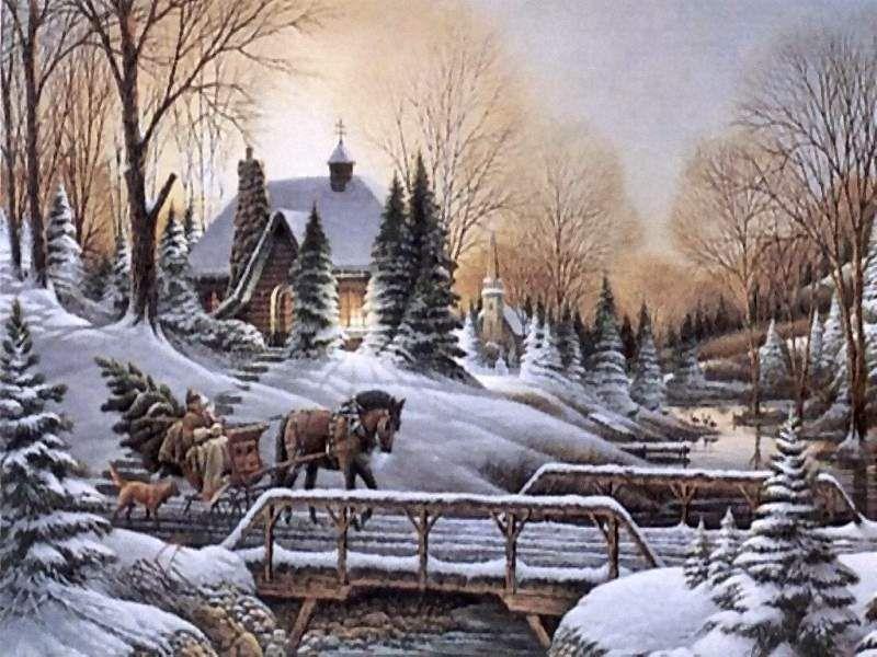 Postales de paisajes nevados navidad natale pinterest - Paisaje nevado navidad ...