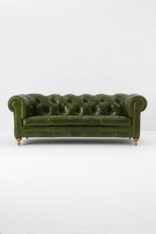 Money Green Leather Sofa