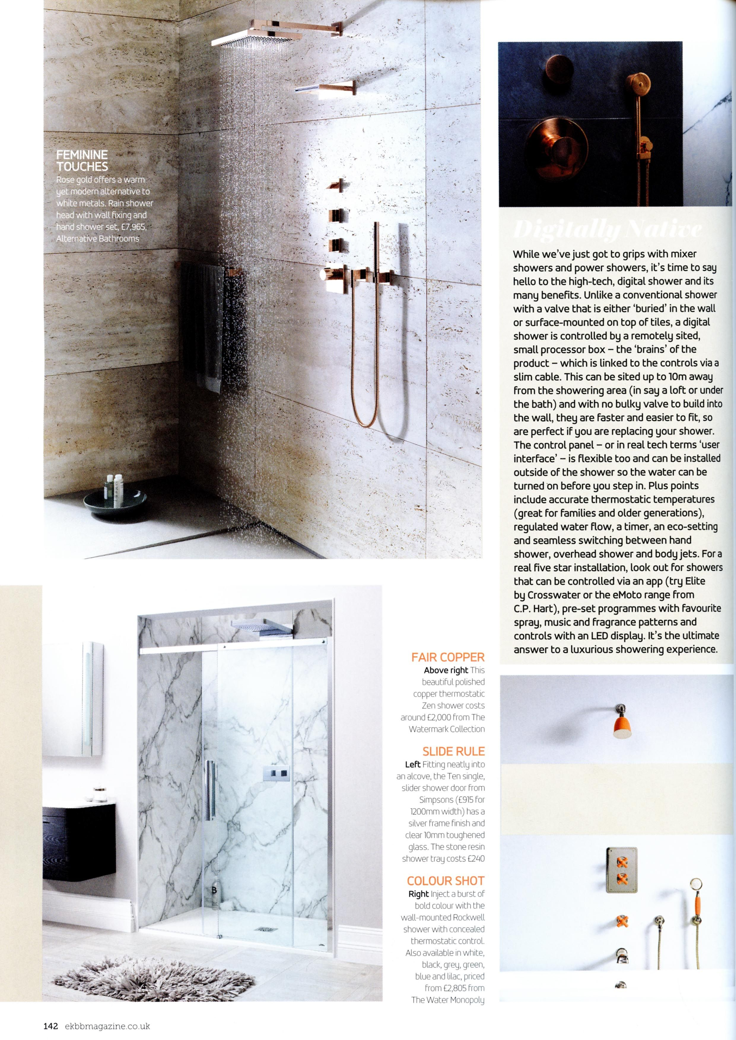 The modern rain shower head with wall fixing and hand shower set in ...