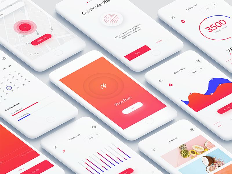 Ios Fitness App Dashboard 앱 앱 디자인 디자인