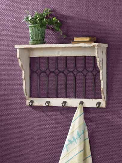 wooden window pane shelf with metal hooks kolorful kitchen home
