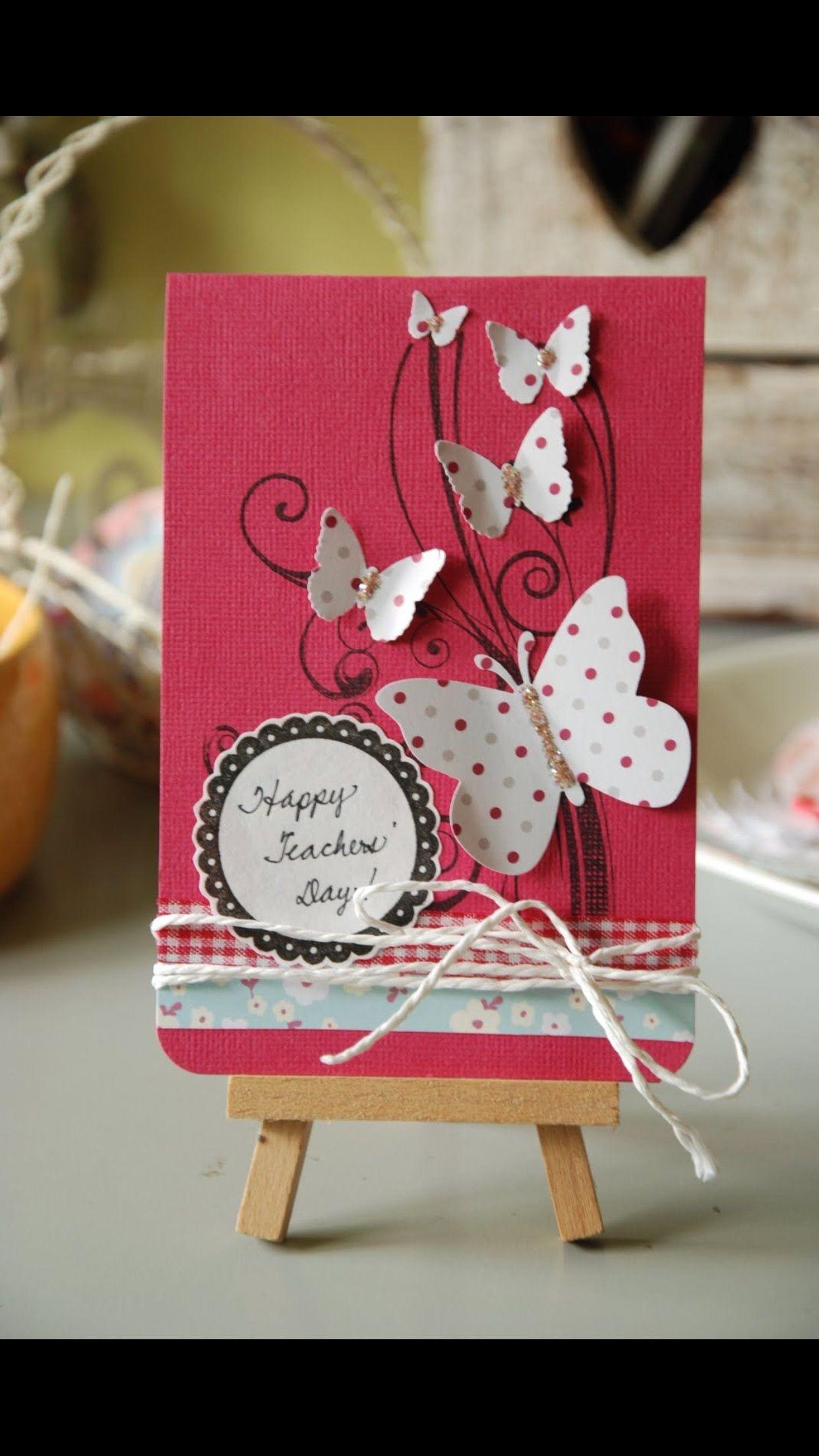 Pin by ÅśhÜ❤️ on Creative  Teachers day greeting card, Handmade