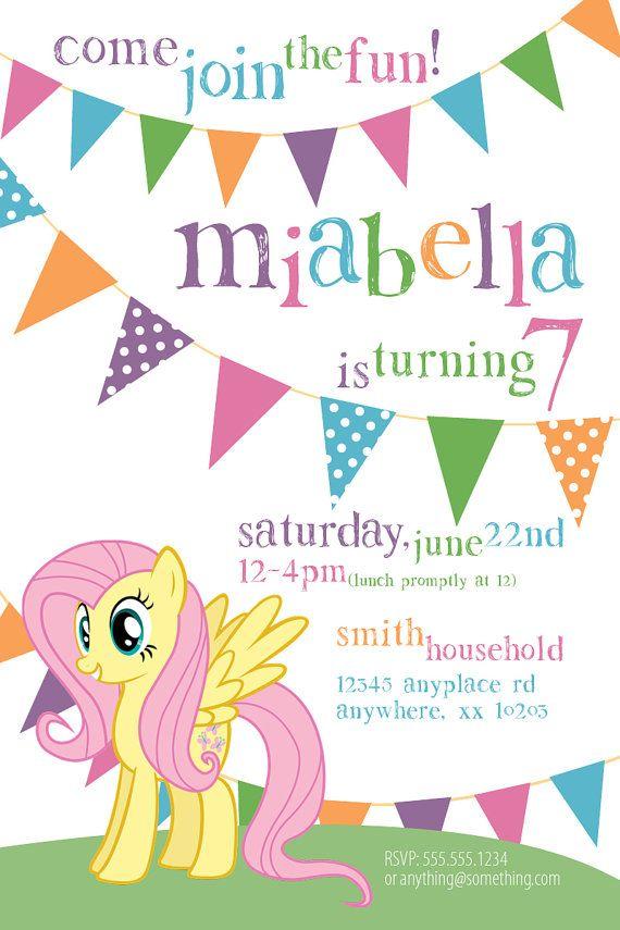 My Little Pony Fluttershy Theme Birthday by CiciandBobos on Etsy