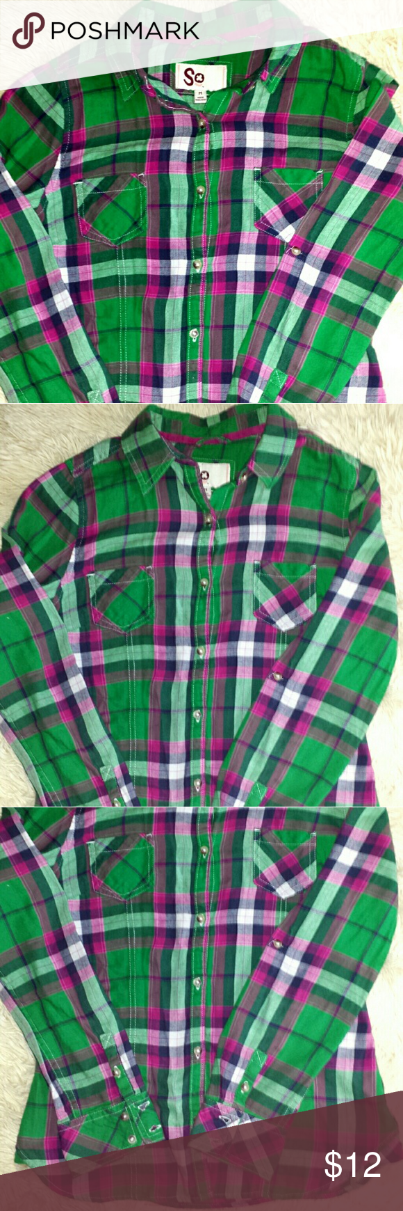 Flannel shirts at kohl's  Flanel plad long sleeve button down shirt Flanel plad long sleeve