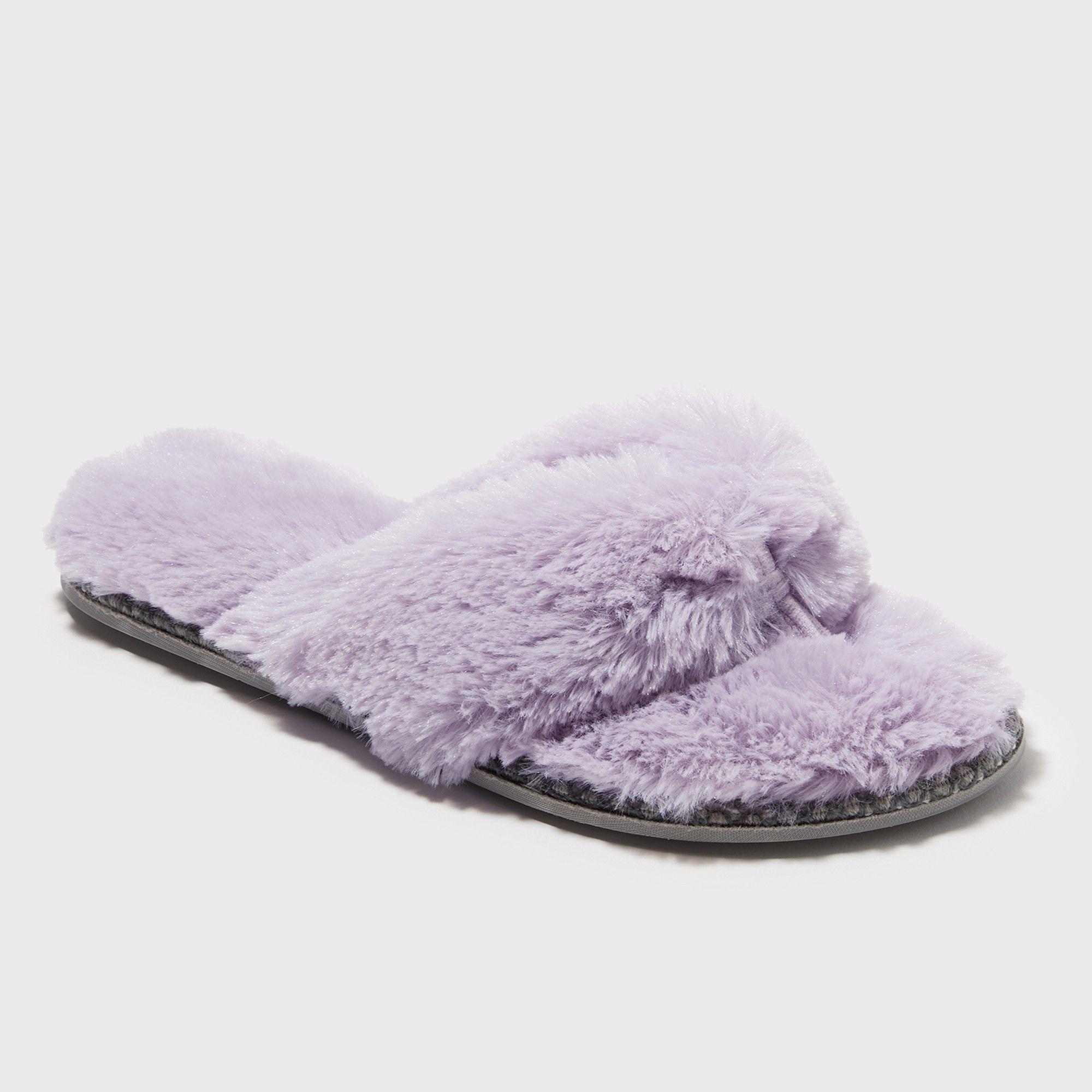 e08137f4adba Women s Dearfoams Thong Slippers - Purple XL