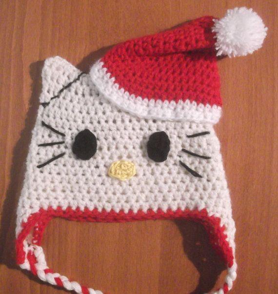 Easychristmascrochetpatterns Hello Kitty Hat Easy Crochet