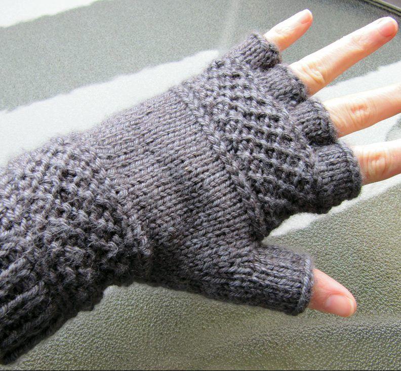 Free Knitting Pattern for Treads Tipless Gloves | Knitting | Pinterest