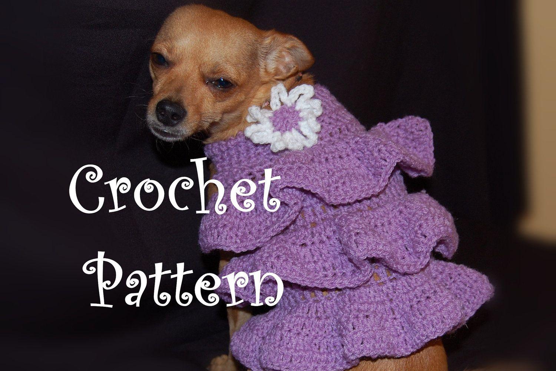 dog dress crochet ruffles