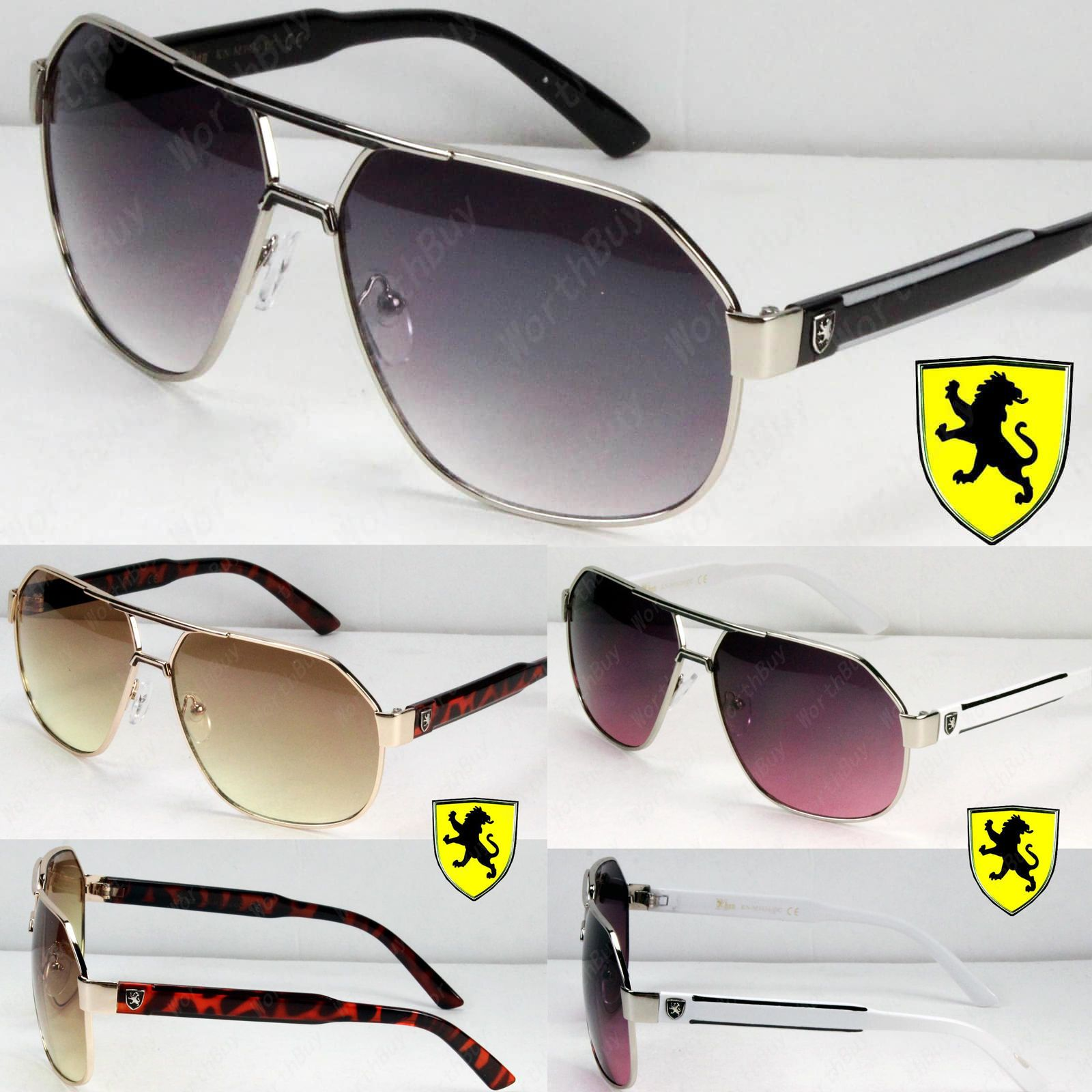 21ba84a4fdbe New Khan Mens Womens Designer Fashion Sunglasses Shades Metal Pilot Retro  Lion Item specifics Condition  New with tags  A brand-new unused and unworn  item ...