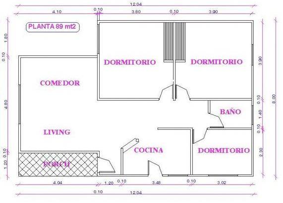 Plano de casa de madera plano con medidas planos gratis for Planos de casas con medidas