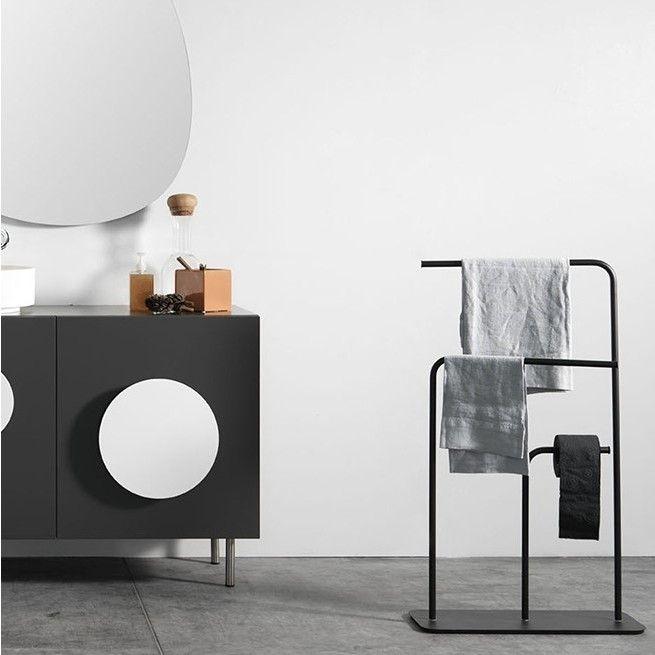 Gru Handdoekenrek Zwart Badkamer Handdoekenrek