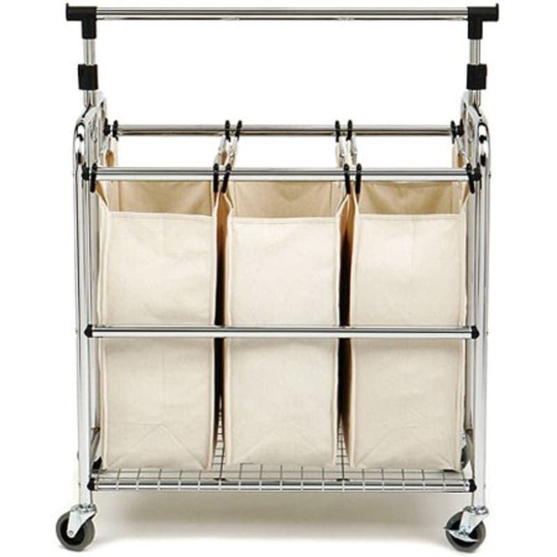 Honey Can Do Rolling Laundry Sorter With Ironing Board Srt 01196