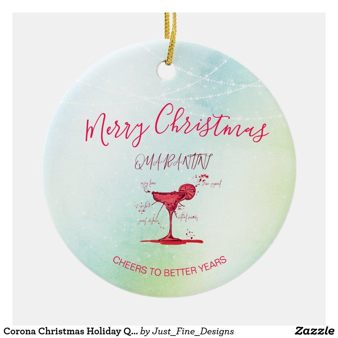Corona Christmas Holiday Quarantini Martini Green Ceramic Ornament Zazzle Com In 2020 Green Ceramics Christmas Holidays Ceramic Ornaments