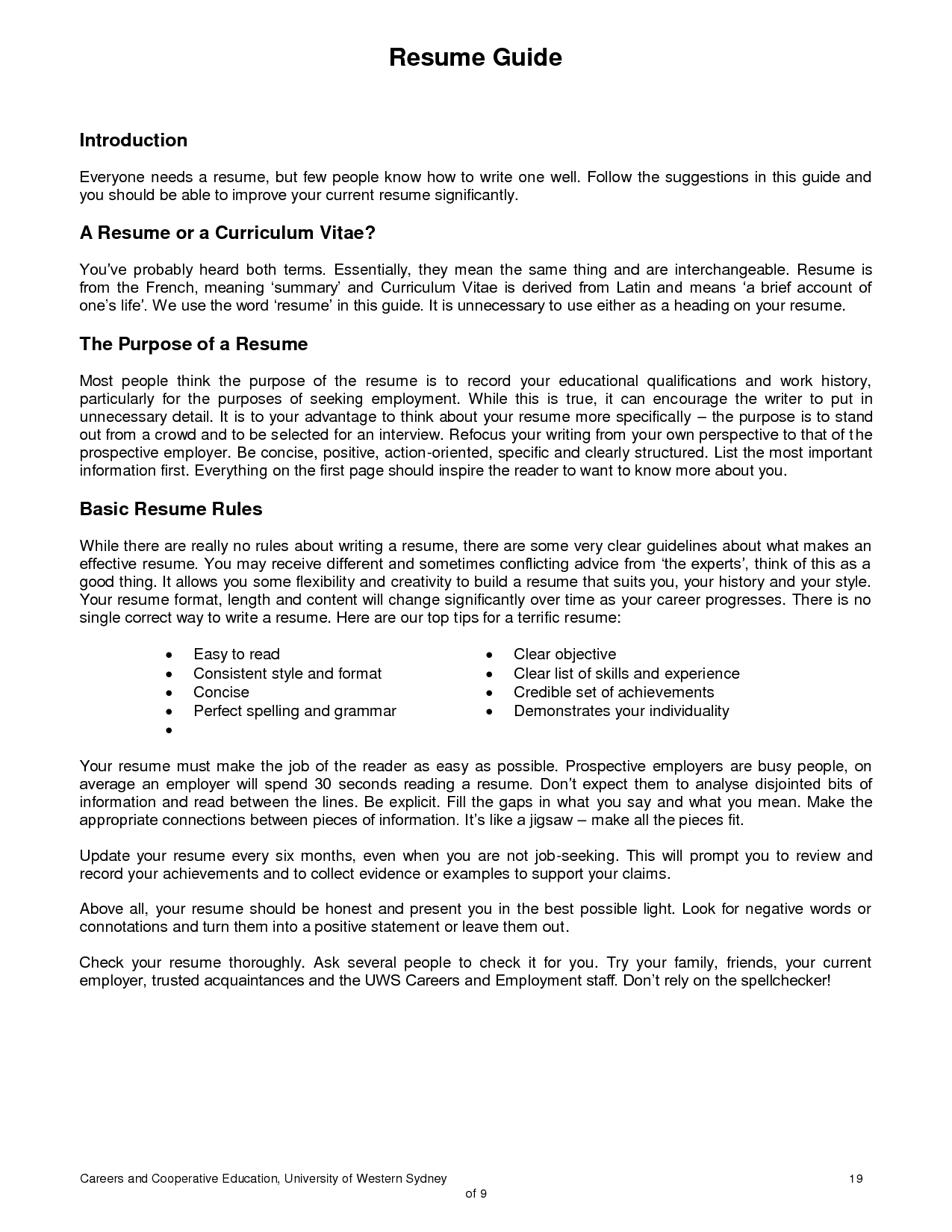 Typical Resume Format Sample Resume Australian Format Best Australia Resumes Templates