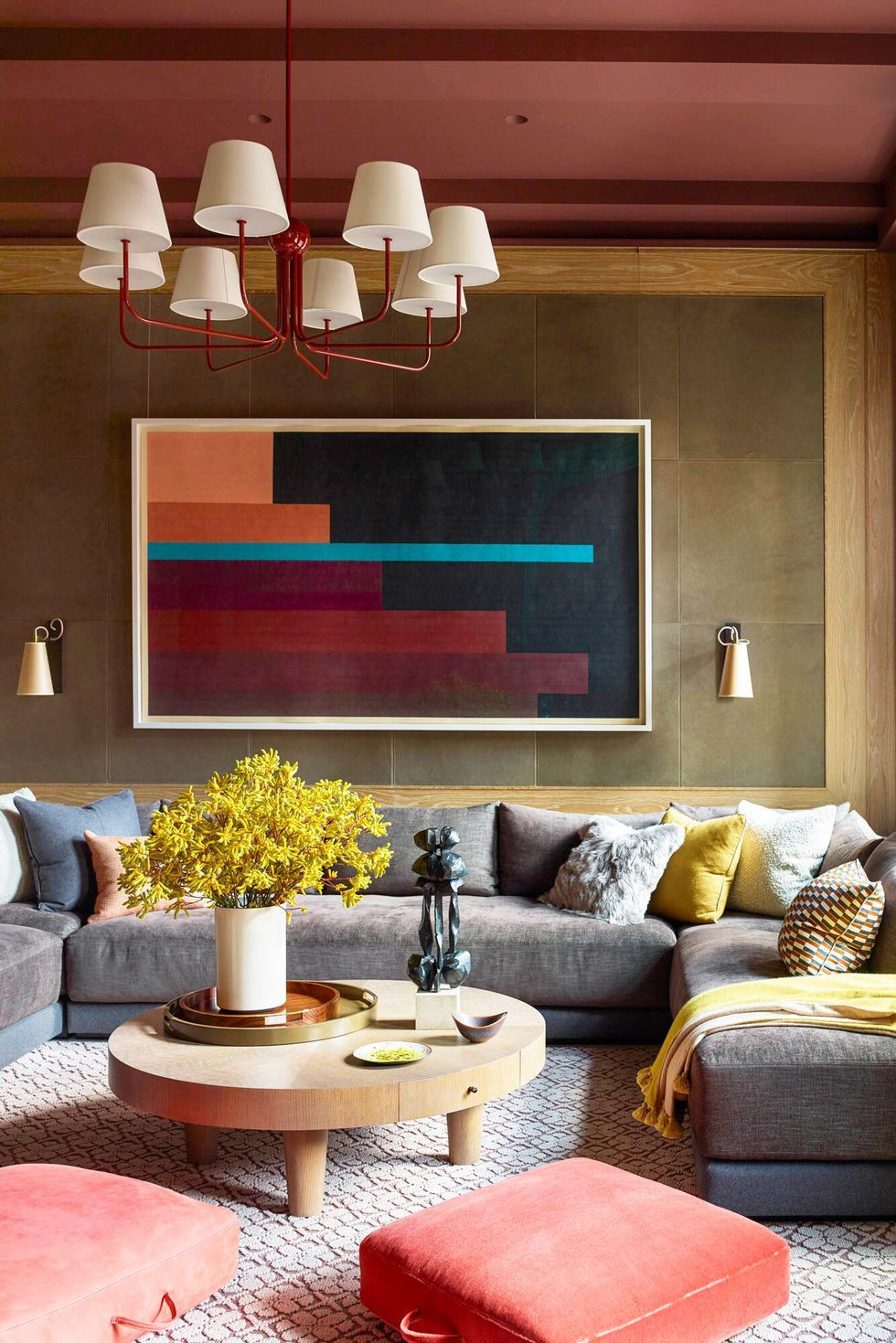 These 55 Designer Living Rooms Are Absolute Goals In 2020 Elle Decor Living Room Luxury Living Room Design Luxury Living Room #red #and #brown #living #room #decor