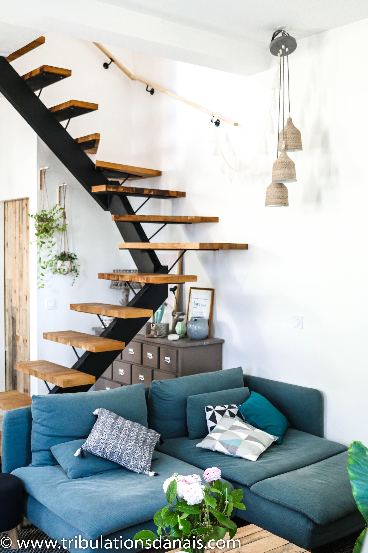 Escalier Dans Un Salon room tour : bienvenue dans mon salon | déco maison, idee