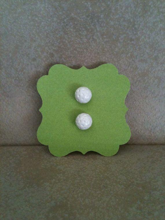 Golf Ball Studs Earrings by SoulJules on Etsy, $6.00 ...