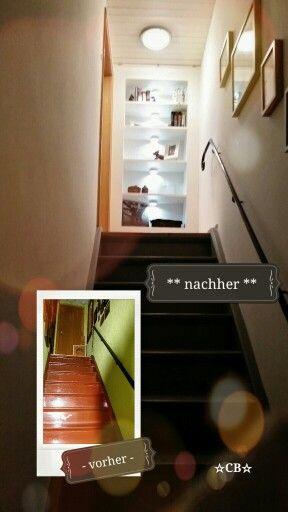 Treppenhaus Renovierung. Handlauf Erneuert (geschmiedeter Rundstab Statt  60er Jahre Mipolam),