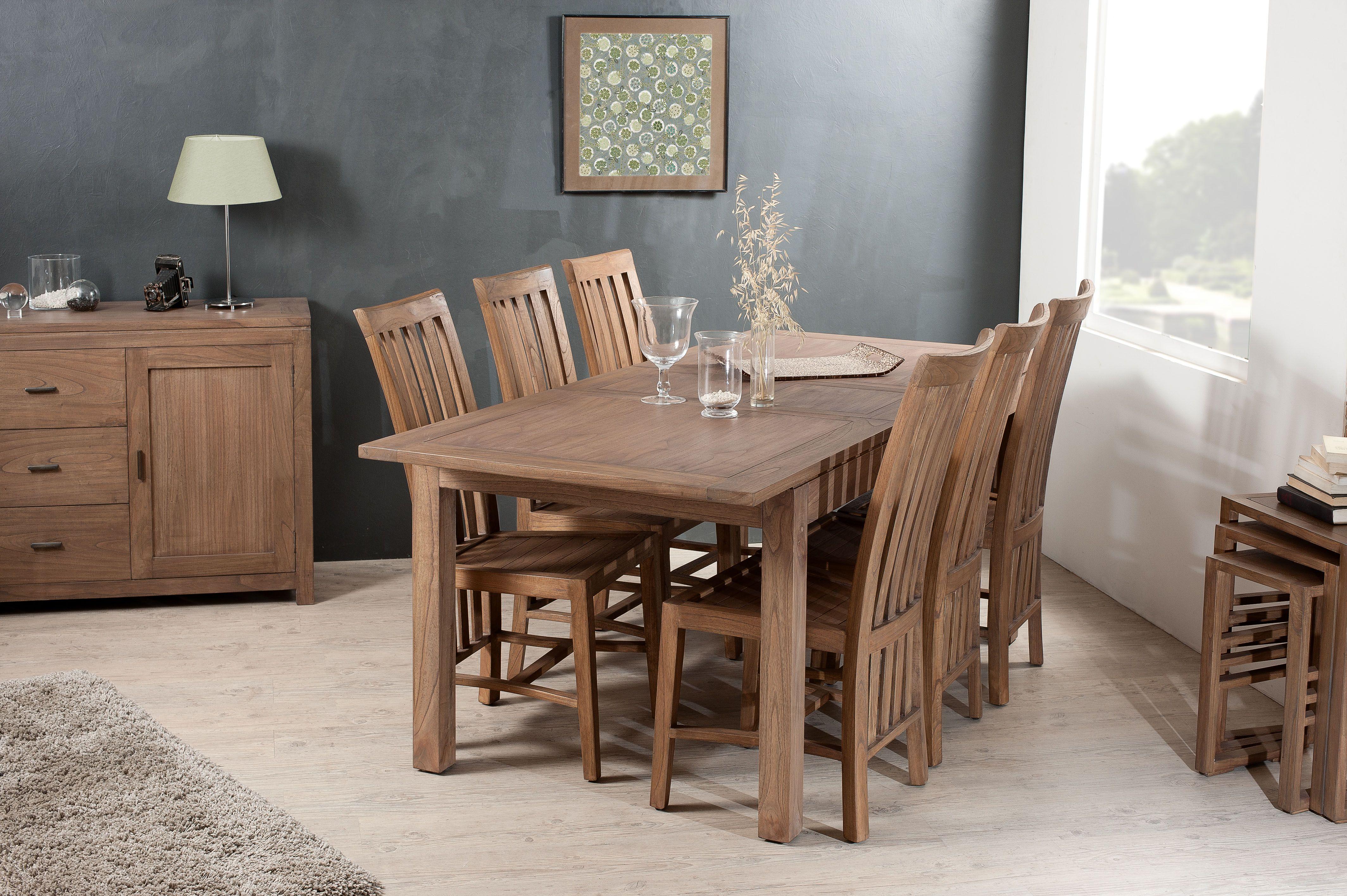 Table A Manger Exotique Avec Allonge 40cm Long 160 200 X Larg 90cm Louna Table A Manger Extensible Table A Manger Table Salle A Manger