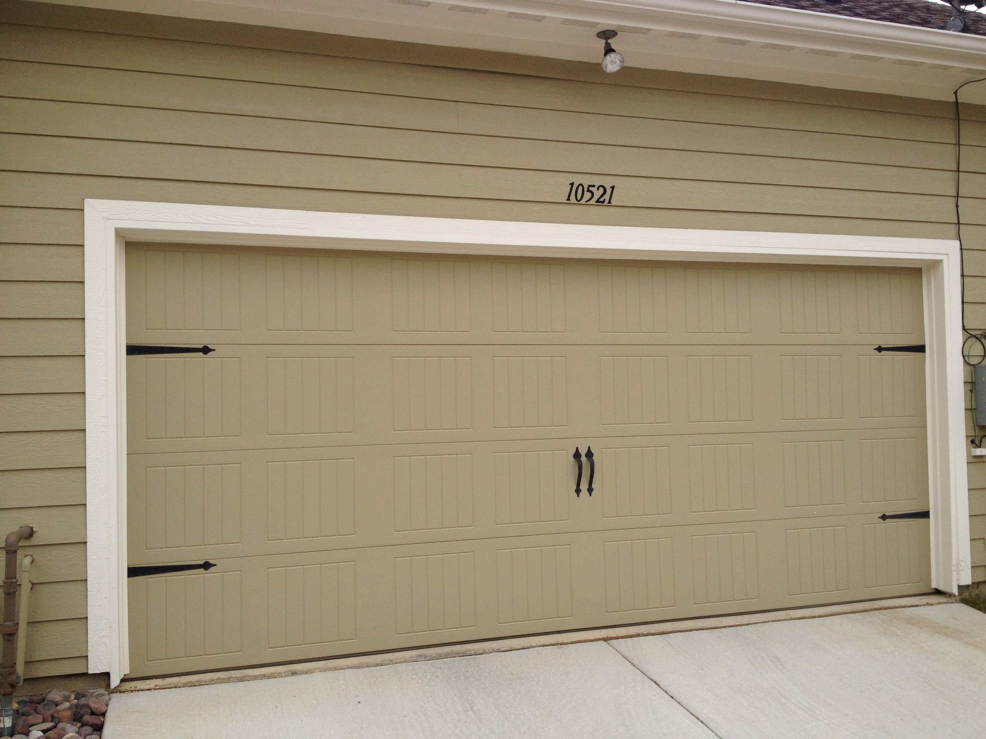 Bon Add Hardware And Street Numbers To Dress Up Garage Door